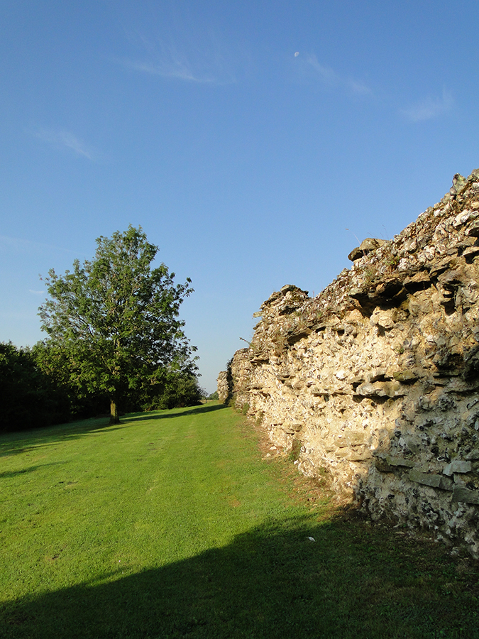 .Late 3rd century AD Town Wall south looking west