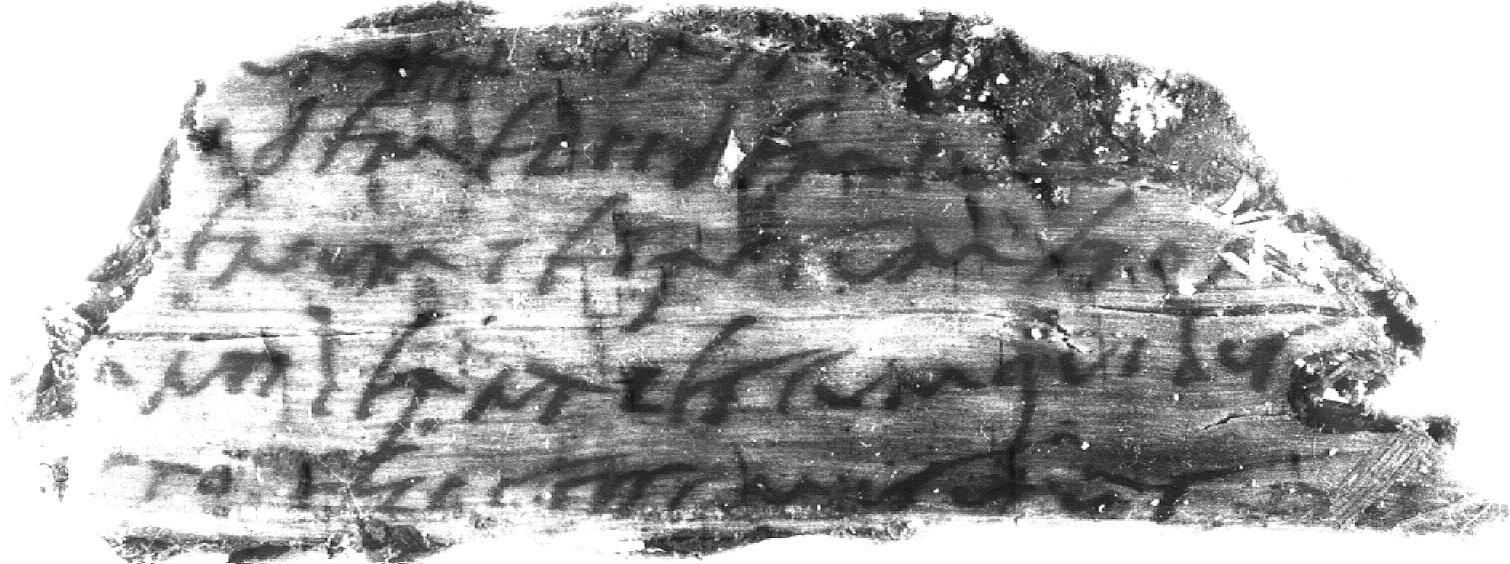 Figure 3. Vindolanda first writing tablet found in 1974