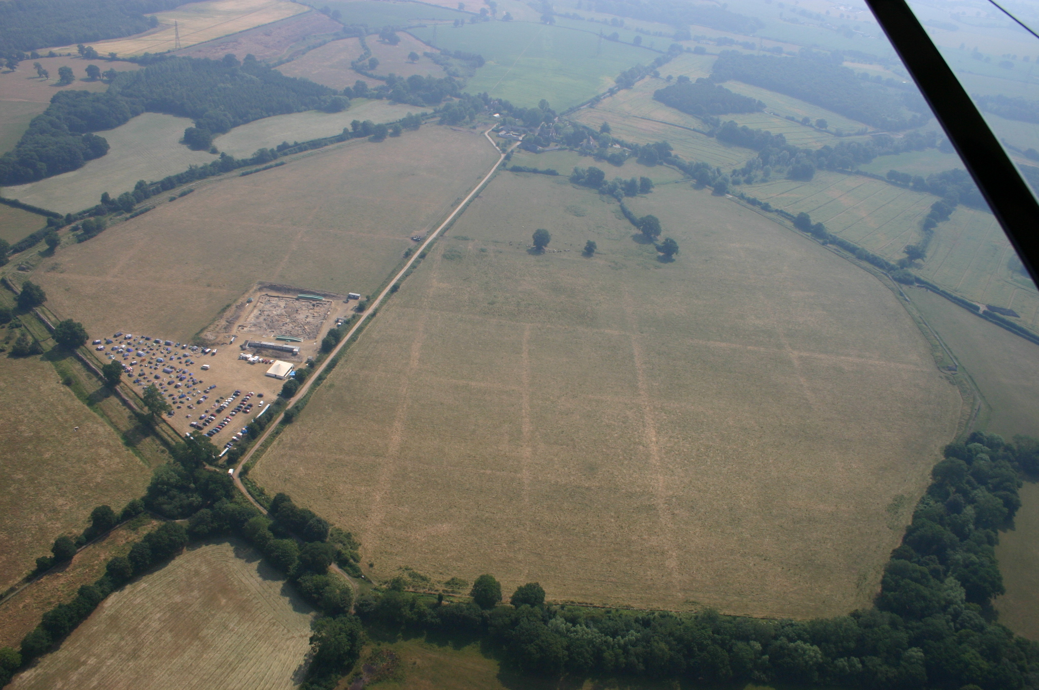 Silchester aerial view from west